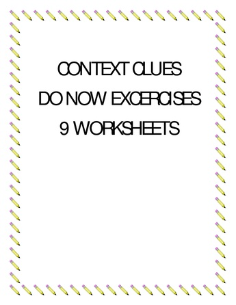 Context Clues Exercises