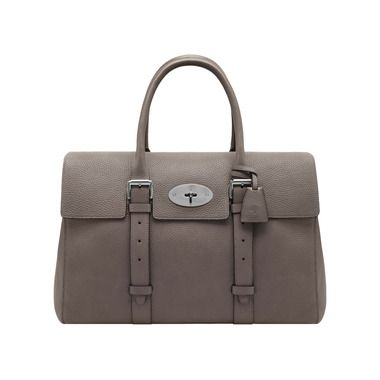 Mulberry+-+Oversized+Bayswater+in+Grey+Soft+Grain