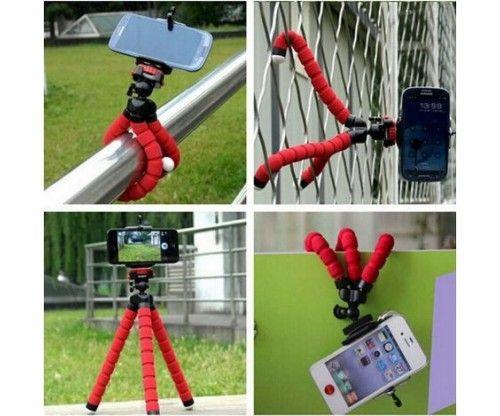 Mini telefonos állvány - fotós tripod flexibilis lábakkal - gumis talpakkal - remek fényképezős ajándék ötlet