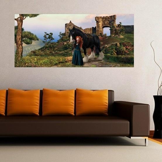Brave Merida Y Angus_FTDH-0601 http://papeldeparedeonline.com/2013/03/21/murais-panoramicos-disney/