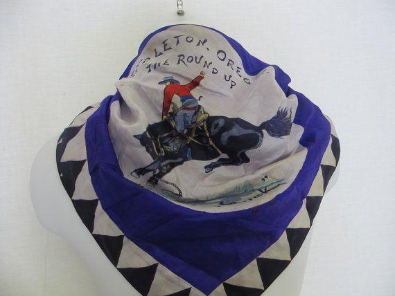Cowboy Bandana  Silk Cowboy Scarf Cowboy Neckerchief Cowboy Bandana Purple…