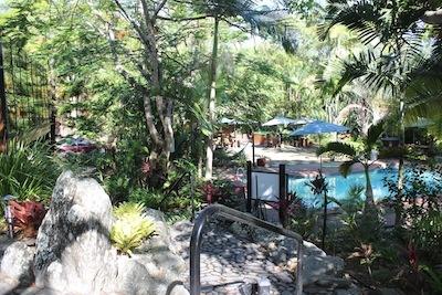 Zai Restaurant pool and gardens