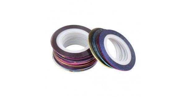 Αυτοκόλλητες Ταινίες Για Διακόσμηση ΝυχιώνΑυτοκόλλητες ταινίες χωρίς την χρήση κόλλας.Εύκολες και γρήγορες στην χρήση.Μπορούν να χρησιμοποιηθούν για να κάνετε τα δικά σας σχέδια στα νύχια.Μπορούν να εφαρμοστούν σε τεχνητά νύχια με τζελ, ακρυλικό ή απλό βερνίκι.Καθαρίζουμε την επιφάνεια που θέλουμε ν