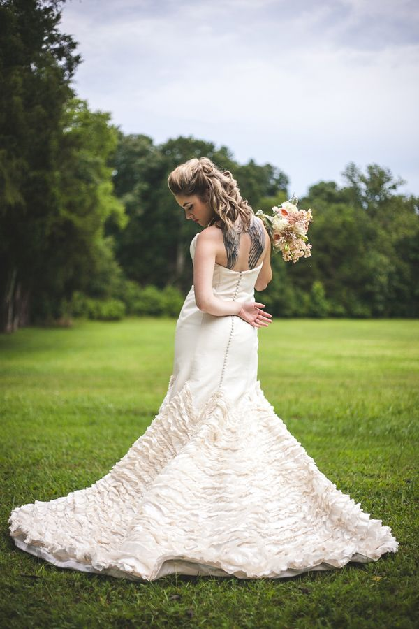Glam Punk Princess Bride Wedding Style   Maddie K. Doucet Photography   See More! http://heyweddinglady.com/punk-princess-bride-wedding-styl...
