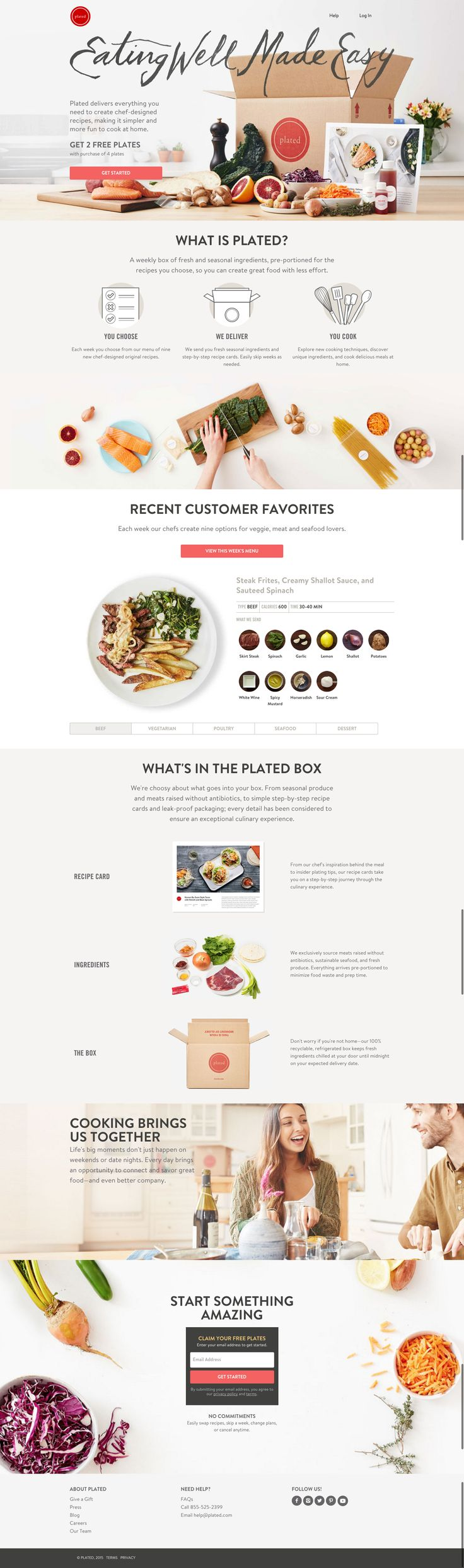 The Plated website does a great job of explaining what you are going to get and how it is a benefit to you