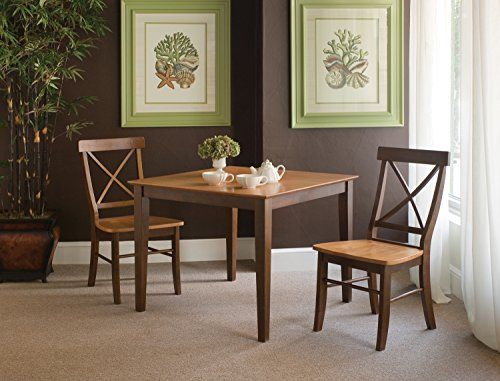 International Concepts By Inch Dining Table With XBack Chairs - 36 inch dining table and chairs