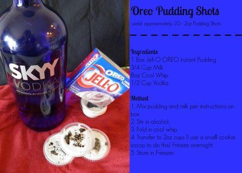 Oreo Pudding Shots