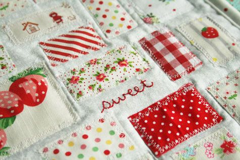 love this patchwork.  Great way to use up scraps