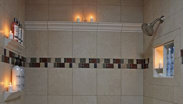 Recessed Bathroom Tile Niches - traditional - shower caddies - dc metro - Bathroom Tile Shower Shelves