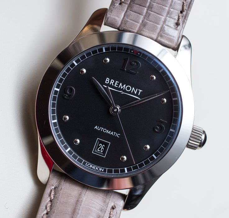 """Bremont Solo-32 Is English Brand's First Ladies' Watch - by Carol Besler - see & read more on aBlogtoWatch.com """"The comeback of ladies' classics is an aesthetic preference, one that is partly driven by an economic climate that calls for real-life accessibility and practicality. But that does not mean boring. The new ladies' Bremont Solo-32, introduced at Baselworld in March, is a new-generation classic that demonstrates how far the genre has come in recent years..."""""""