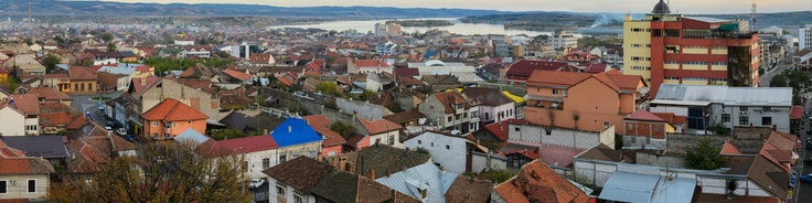From the top walkway of the water castle in Drobeta, Romania. It's a multipoint (4) panorama, so it took some painting and stretching to be ok :) The Danube and Serbia on one side, and snow on Godeanu Mts on the opposite.