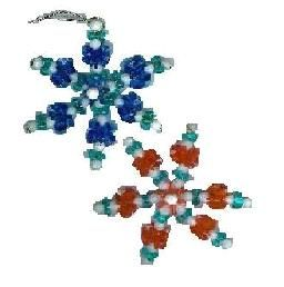 Beaded snowflake ornament cub scout christmas crafts for Cub scout ornament craft