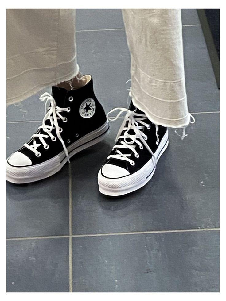 converse #black #platform #tennis #shoes #blackplatformtennisshoes ...