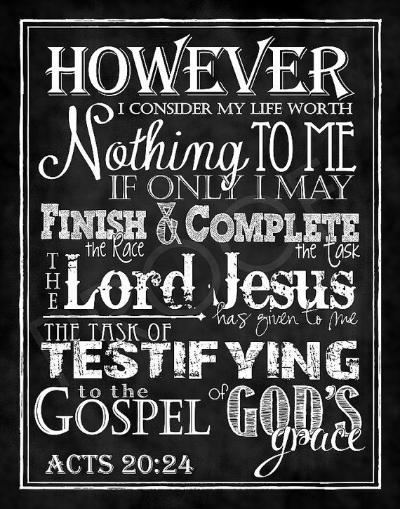 Mounted Scripture Chalkboard Art  Acts by ToSuchAsTheseDesigns, $15.00