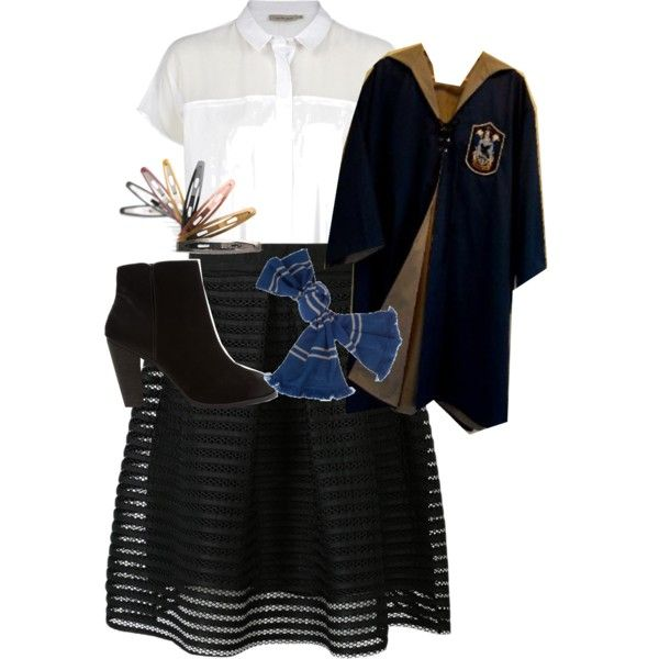 A real Ravenclaw Student#Hogwarts by sandra-langmair on Polyvore featuring polyvore fashion style Calvin Klein Report