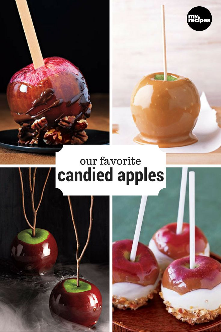 Our Favorite Candied Apples | MyRecipes  Dipped, dunked, and covered in all kinds of delicious toppings! What is your favorite way to enjoy a candied apple?
