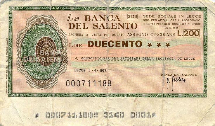 I miniassegni furono un particolare tipo di denaro che circolo in Italia alla fine degli anni '70 in sostituzione degli spiccioli chescarseggiavano e che fino allora erano sostituiti da caramelle . francobolli . gettoni telefonici