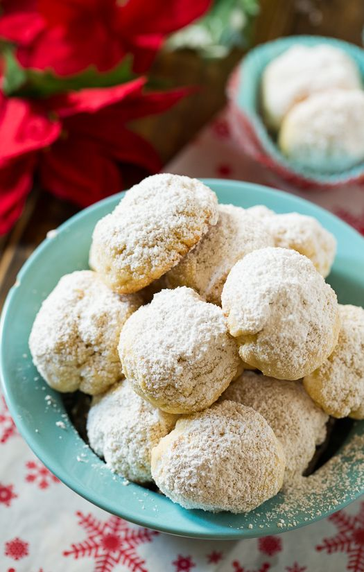 Greek Butter Cookies. These snowball like cookies flavored with butter and roasted almonds will put you in a festive mood. @FMSCLiving
