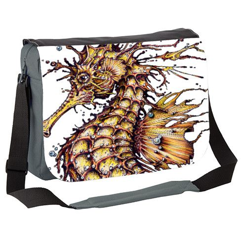 Seahorse Messenger Bag by taojb at zippi.co.uk