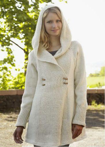 abrigo para mujer tejido a palillo como tejer un abrigo o chequetón para el invierno OjoconelArte.cl  