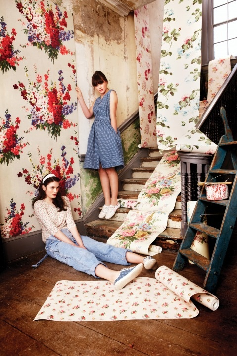 Cath Kidston - vintage wallpaper art!