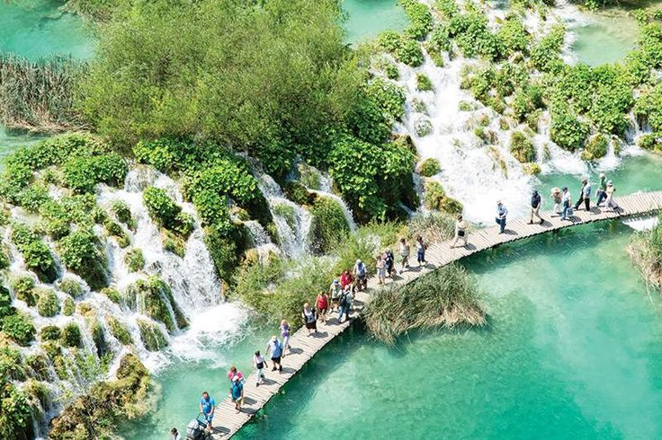 The magnificent Plitvice Lakes National Park in Croatia
