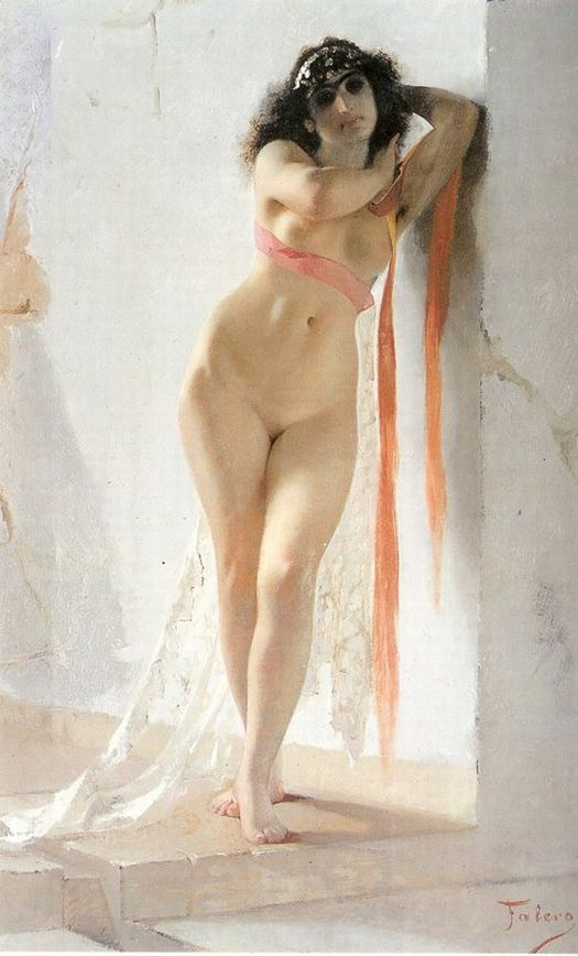 Luis Ricardo Falero (SpanishPainter , 1851-1896) - A Naked Oriental Woman