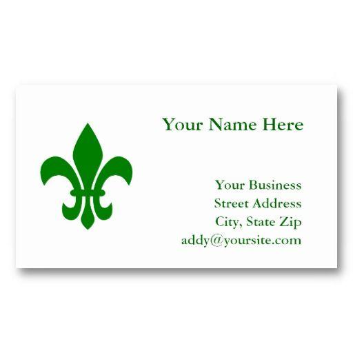 19 best fleur de lis business cards images on pinterest business green fleur de lis business card reheart Image collections