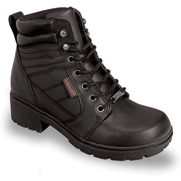 Milwaukee Ladies Black Rally Motorcycle Boots MB246