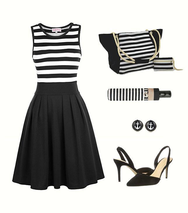 Toller Marine Look für die Dame. #sommer #fashion #mode #damenmode #woman #styling #marine