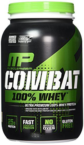 Muscle Pharm Combat 100% Whey Protein Powder, Cookies 'n' Cream, 2 Pound