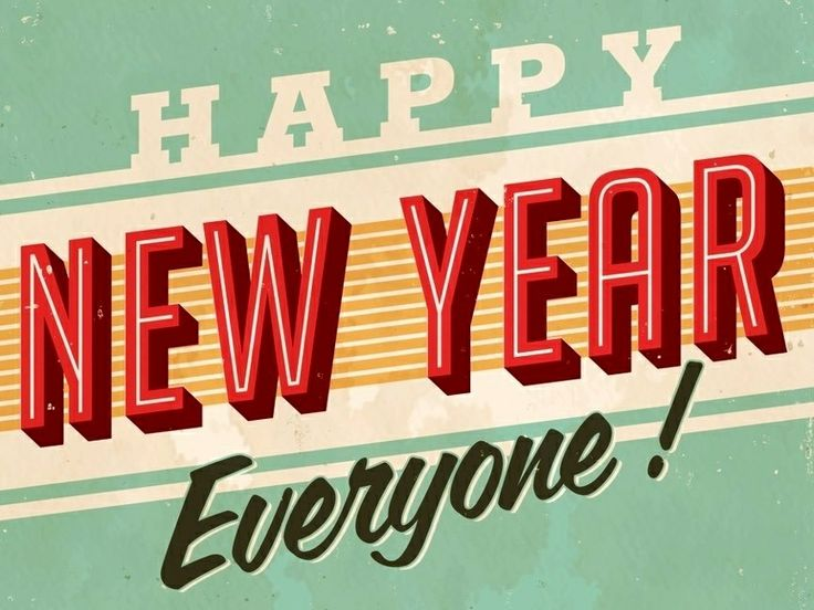 Happy New Year Everyone! A new year but still vintage.