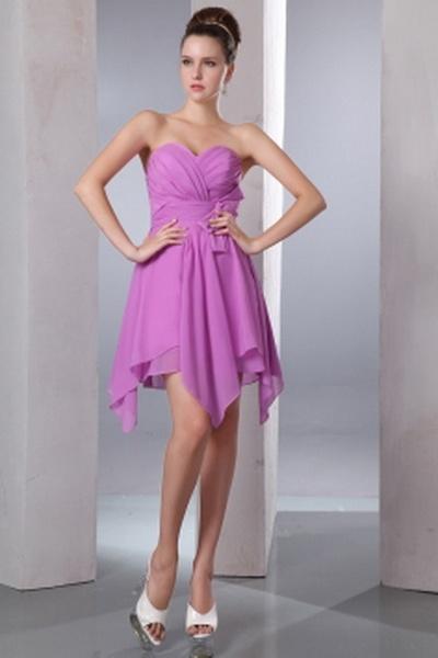 Sweetheart A-Line Chiffon Bridesmaids Gowns wr2698 - http://www.weddingrobe.co.uk/sweetheart-a-line-chiffon-bridesmaids-gowns-wr2698.html - NECKLINE: Sweetheart. FABRIC: Chiffon. SLEEVE: Sleeveless. COLOR: Purple. SILHOUETTE: A-Line. - 78.59