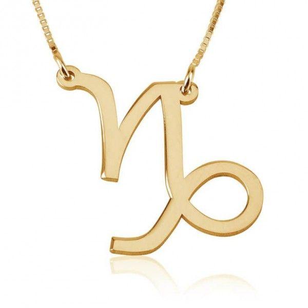 Collar Capricornio en plata chapada en Oro de 24K - Joyas4You - Joyería personalizada - Joyas personalizadas