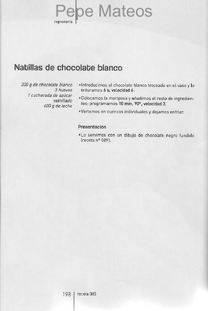 ARCHIVO DE RECETAS THERMOMIX: NATILLAS DE CHOCOLATE BLANCO