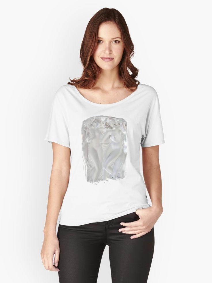 Art Nouveau Mythic Maidens - Rene Lalique  Women's Relaxed Fit T-Shirt