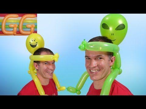 como hacer sombreros locos - sombrero con globos #3 - globoflexia facil - figuras con globos - YouTube