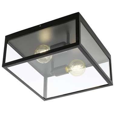 EGLO plafondlamp Charterhouse - zwart/helder