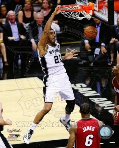 Tim Duncan Game 1 of the 2014 NBA Finals Action Sports Photo (8 x 10)