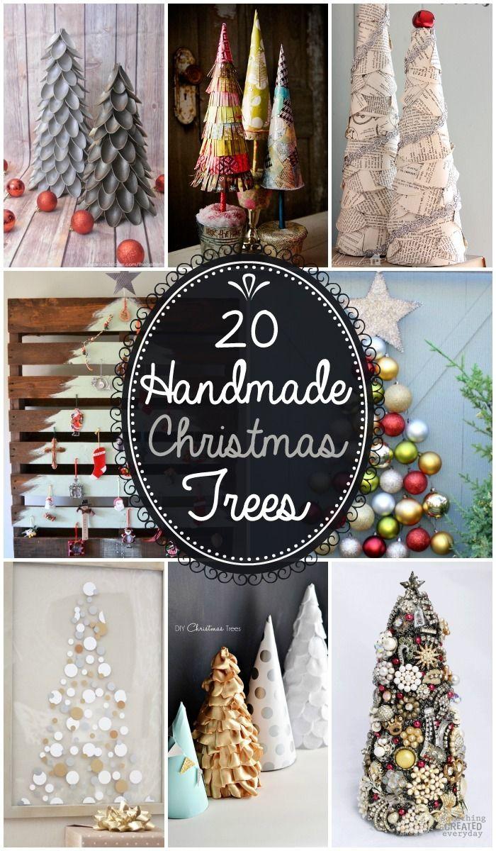 20 Handmade Christmas Trees - Such cute and easy Christmas decor!! { lilluna.com }