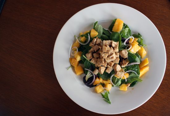 Honey Mustard Chicken Salad with Mango and Red Onion