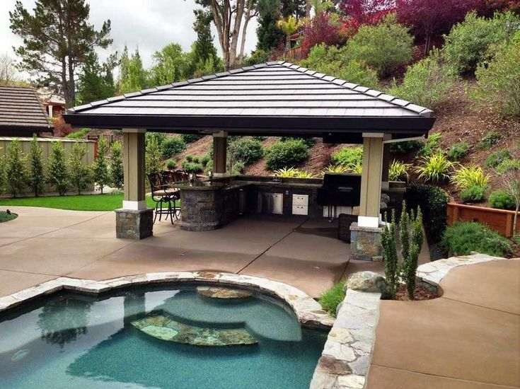 129 best pool pergola gazebo ideas designs images on for Pool design with gazebo