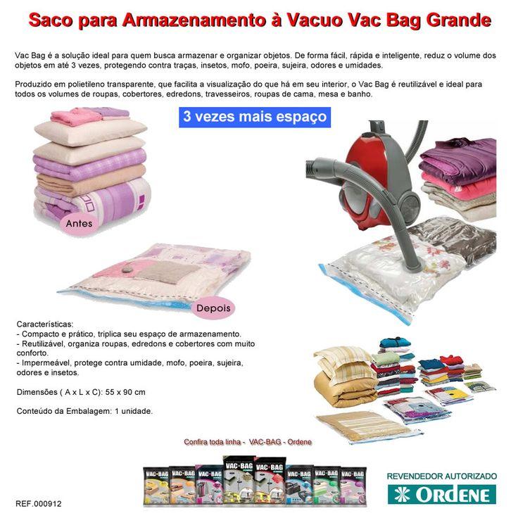 Kit 10 Saco A Vácuo Edredom Vac Bag Grande 55x90 + Bomba+ Nf - R$ 179,90 no MercadoLivre