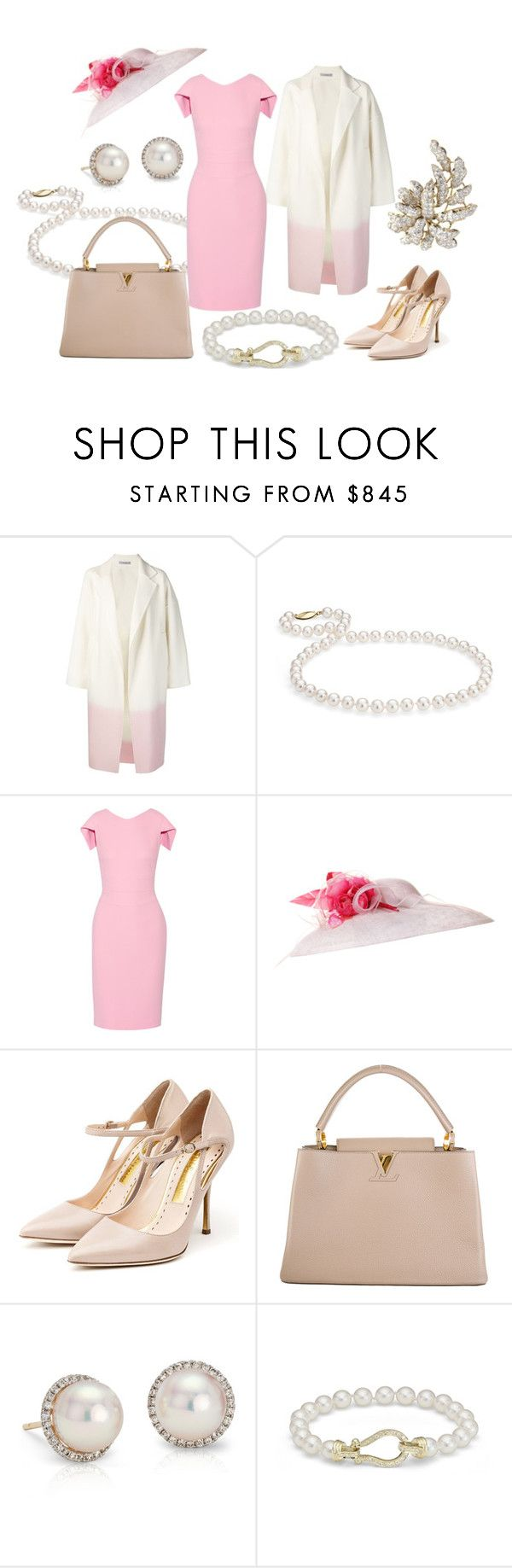 """""""State Visit from PRC Day 1: Arrival"""" by queenalex on Polyvore featuring Dušan, Blue Nile, Antonio Berardi, JANE TAYLOR MILLINERY, Rupert Sanderson, Louis Vuitton and country"""