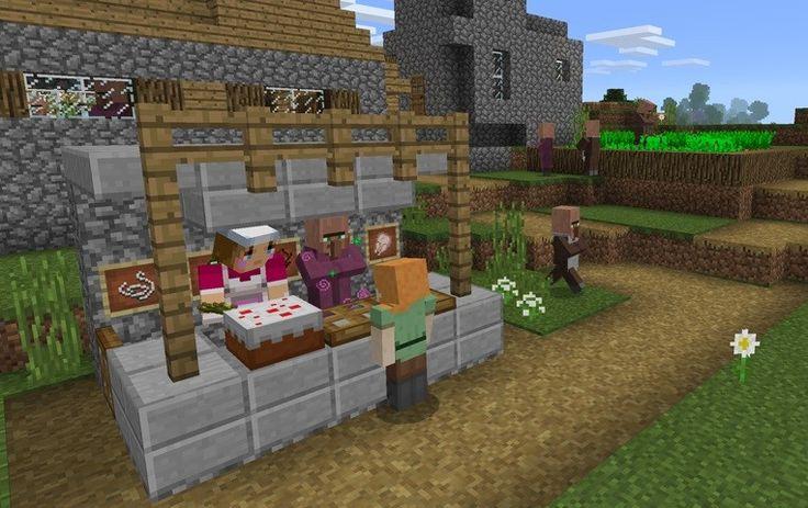 Od 9.03.2017 dostępna jest już najnowsza wersja Minecraft MCPE o numerze 1.0.4 a z nią pojawiło się kilka nowości jakiech brakowało względem wersji PC/Java. Doadno handel z villagerami...