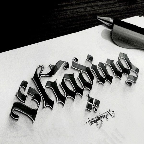 Some Shaded Lettering with Parallelpen&Pencil - Part 2 by Tolga Girgin, via Behance