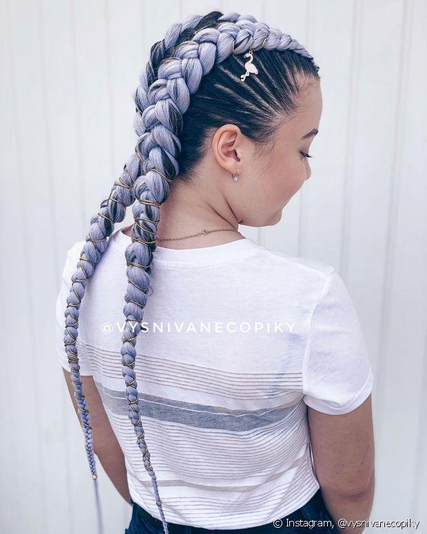 Trança boxeadora colorida: veja como apostar no penteado sem pintar os cabelos - L'Oréal Paris em 2021 | Cabelos estilosos, Trança com aplique, Cabelo com trança