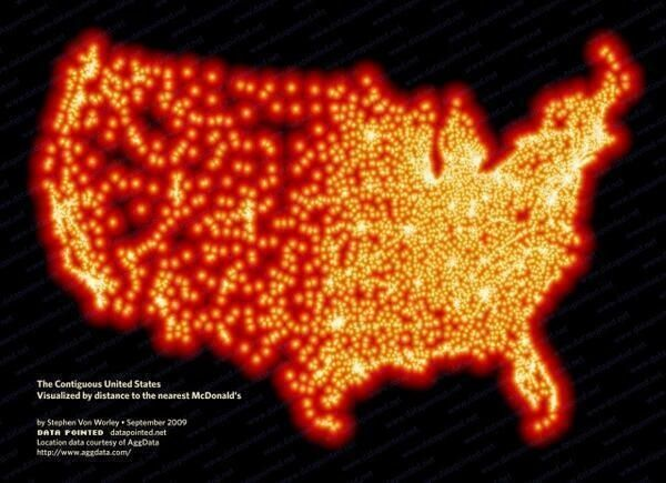 every single McDonald's in the US