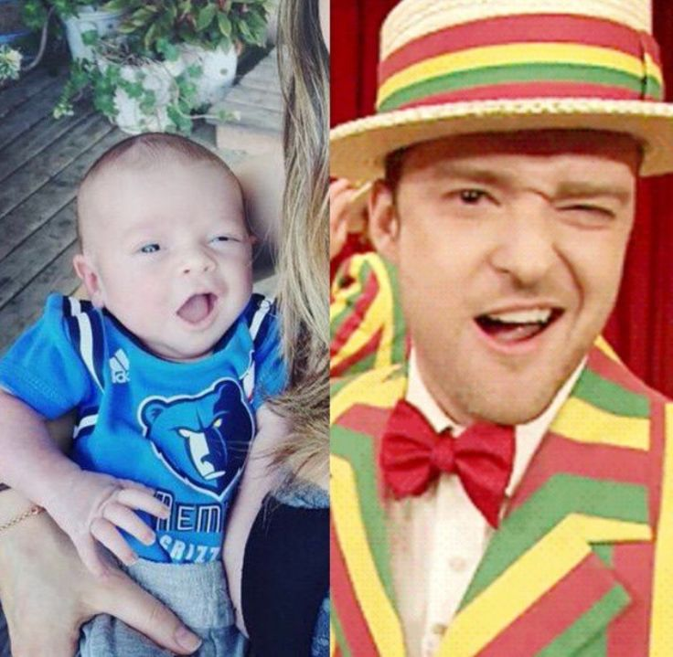 Like Father Like Son haha Love this! Justin & Silas Timberlake