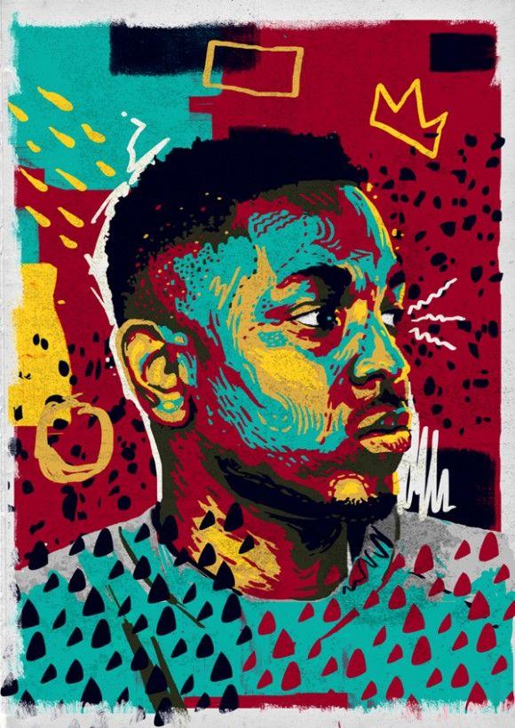 Andy Gellenberg hip hop portraits kendrick Lamar                                                                                                                                                                                 More